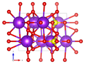 Arcanite crystal structure (McGinnety 1972) along b axis.png