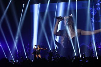 My Everything (Ariana Grande album) - Grande performing during The Honeymoon Tour at JIExpo in Jakarta.