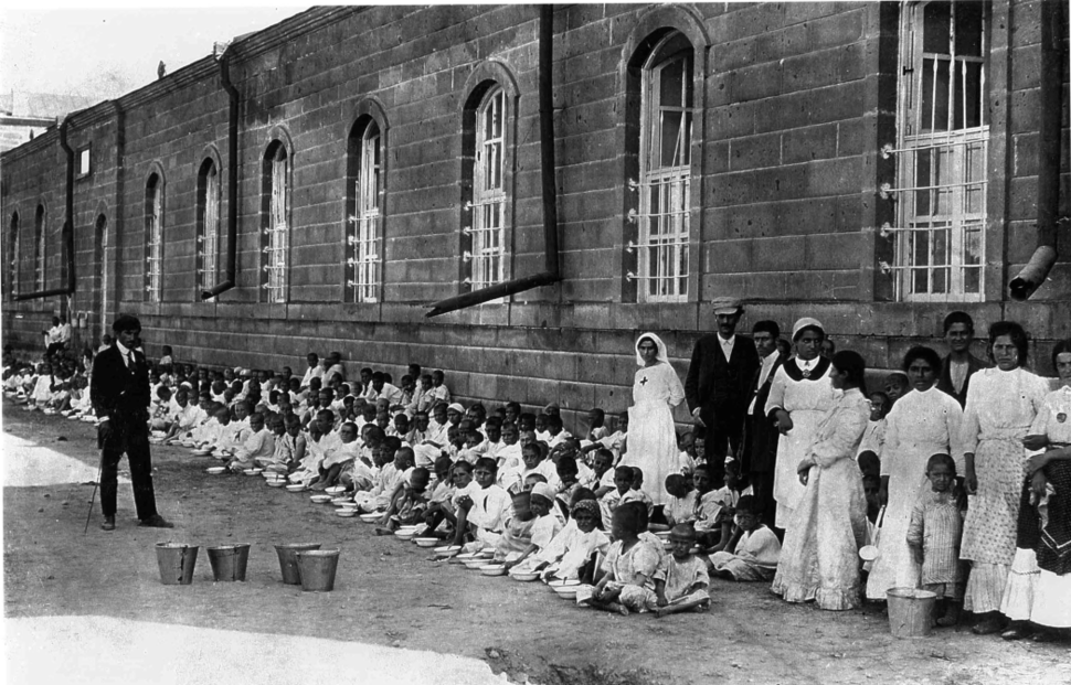 Armenian refugees taken in the streets of Alexandropol