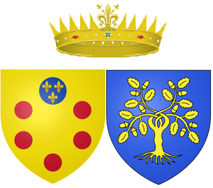 Vittoria della Rovere - Arms of Rovere as Grand Duchess of Tuscany