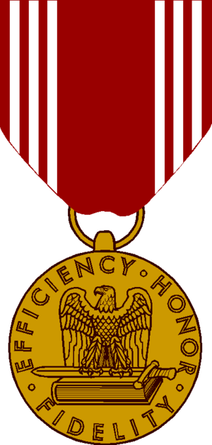 Awards and decorations of the United States Army - Image: Army Good Conduct Medal Obv