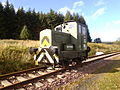 Army 110, Ruston & Hornsby shunter, Waverley Route, 30 September 2012.jpg