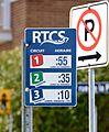 Arrêt d'autobus RTCS, côté avec horaire.jpg
