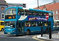 Arriva bus 7439 VDL Bus DB250 East Lancs Myllennium Lowlander Y689 EBR in Newcastle 9 May 2009 pic 1.jpg