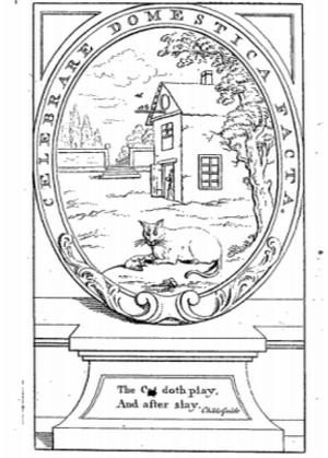 "An Essay on the Art of Ingeniously Tormenting - Frontispiece: ""The Cat doth play,/ And after slay."" – Childs Guide"
