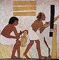 Artisan et sculpteur égyptiens - tombe de Nebamun et Ipuki à Thèbes - 18e dynastie..jpg