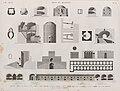 Arts et métiers. 1-3. Four à poulets du Kaire; 4-6. Four à chaux; 7.8. Four à platre; 9-11. Four à poteries; 12. Tour du potier; 13-16. Four à verrerie; 17-19. Four à verrerie pour le sel (NYPL b14212718-1268819).jpg