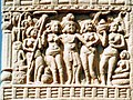 Ashoka and his two queens at Sanchi.jpg