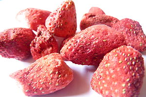 Freeze-Dried Strawberries that have been aboar...