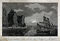 Astronomy; a sailing ship at the North Cape, Norway, sailing Wellcome V0025067.jpg