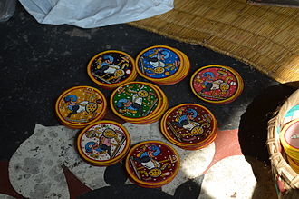 "Ganjapa - ""Atharangi Ganjapa"" cards painted with traditional Pattachitra painting"