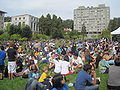 Audience on Memorial Glade for Cold War Kids concert at Cal Day 2010 4.JPG