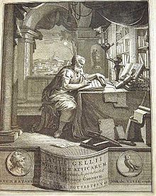 Frontispiece to a 1706 Latin edition of the Attic Nights [fr] by Jakob Gronovius