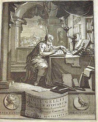 Aulus Gellius - Image: Auli Gellii Noctium Atticarum 1706