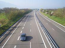 L'autoroute A49 en direction de Valence