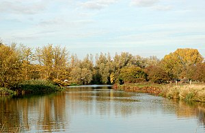Sutton, Cambridgeshire - Autumn colours on the River Nene near Sutton – geograph.org.uk – 1563755