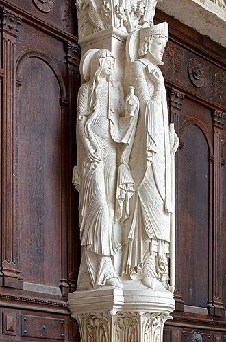 Trumeau (architecture) - Image: Autun Cathedrale St Lazare 01