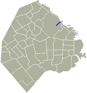 Avenida Sarmiento - Location of Sarmiento Avenue in Buenos Aires.