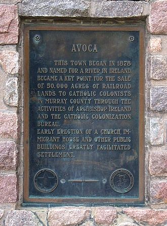Avoca, Minnesota - Historical marker in Avoca