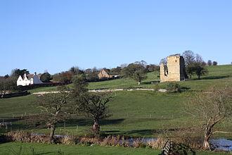 East Ayton - The 14th century Ayton Castle, between East Ayton and West Ayton