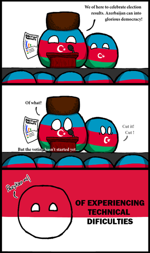 Azerbaijani presidential election, 2013 - Image: Azerbaijan can into glorious democracy