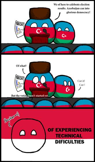 Azerbaijani presidential election, 2013 - Image: Azerbaijan can into glorious democracy