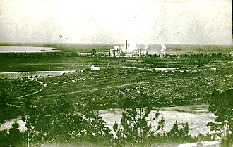 Monfalcone - Adria factories in Monfalcone under austrian bombradment in WWI