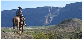 Big Bend National Park - Park ranger on a horseback patrol near Santa Elena Canyon