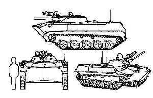 BMD-1 - BMD-1 three-view graphic.