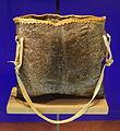 Bag, Bannock-Shoshone, salmon skin - Etnografiska museet - Stockholm, Sweden - DSC01205.JPG