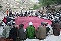 Bahlol Bajig visits a village shura in Panjshir.jpg