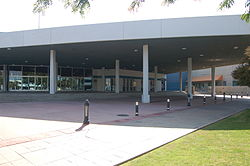 View of the Rabobank Theater and Convention Center's Entrance