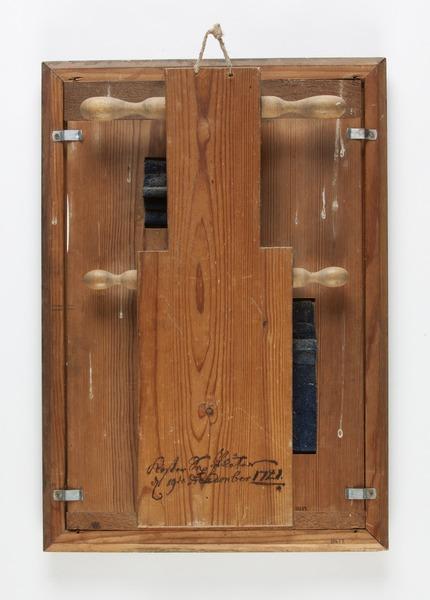 File:Baksida av gregoriansk kalendarium perpetuum, 1720 - Skoklosters slott - 93149.tif