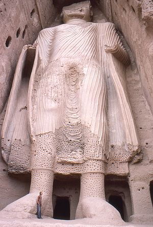 Afghanistan - One of the Buddhas of Bamiyan. Buddhism was widespread before the Islamic conquest of Afghanistan.