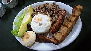 Bandeja paisa - Bandeja paisa from Restaurante Chócolos in Medellín, Colombia