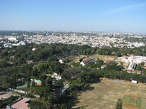 Public Utility Building, Bangalore - Image: Bangalore Aerial view from MG road Utility Building
