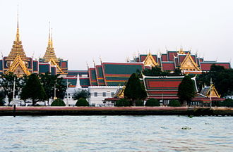 Grand Palace - Grand Palace from across Chao Phraya River