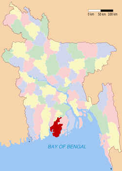 Location of Barguna in Bangladesh