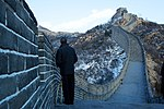 Barack Obama on the Great Wall