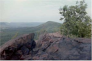 Robert Frost Trail (Massachusetts) - The Robert Frost Trail now crosses the summit of Bare Mountain