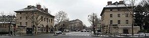 Barrière d'Enfer - The two buildings that comprise the Barrière d'Enfer