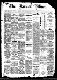 Front page of the Barrier Miner newspaper 1 March 1889