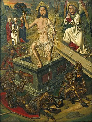 Resurrection of Christ (Bermejo) - Image: Bartolomé Bermejo Resurrection MNAC
