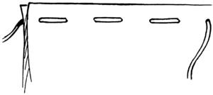 Tack (sewing) - Image: Basting (PSF)