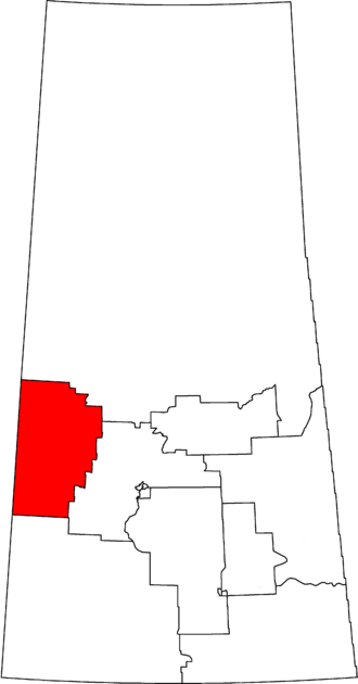 Battlefords—Lloydminster - Battlefords—Lloydminster in relation to other Saskatchewan federal electoral districts as of the 2013 Representation Order.