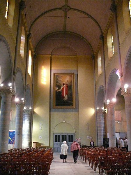 Saint-Ambroise's church of Bavilliers (Territoires de Belfort, Franche-Comté, France).