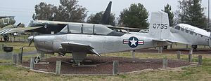 Beechcraft T-34 Mentor - A YT-34 on display at the Castle Air Museum at the former Castle AFB in Atwater, California