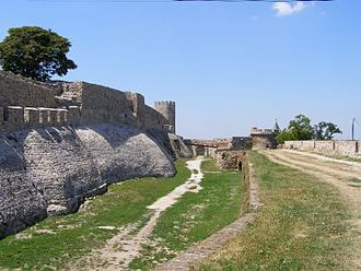 Belgrade - The medieval walls of the Belgrade Fortress, where the walls of the Roman castrum Singidunum had been discovered