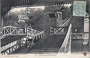 Bellevue funicular - Image: Bellevue Meudon La gare du funiculaire