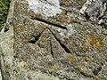 Benchmark at St. Michael's Tower, Glastonbury.jpg